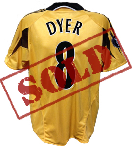 Kieron Dyer Newcastle United Shirt 2004/05 Europe (Match-Worn)