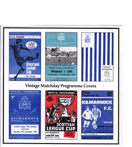Kilmarnock FC Vintage Programme (Greetings Card)