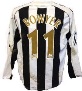 Lee Bowyer Newcastle United Shirt 2005/06 (Match-Worn)