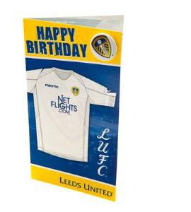 Leeds United Shirt Birthday Card