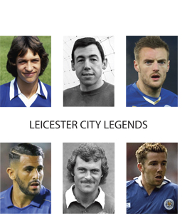 Leicester City Legends (Greetings Card)