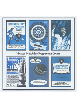 Leicester City Vintage Programme (Greeting Card)