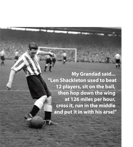 Len Shackleton - My Grandad Said (Greetings Card)