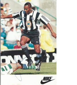 Les Ferdinand Newcastle Sponsor Card (Signed)