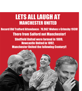 Let's All Laugh At Manchester United (Greeting Card)