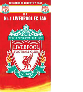Liverpool FC Certificate Birthday Greeting Card