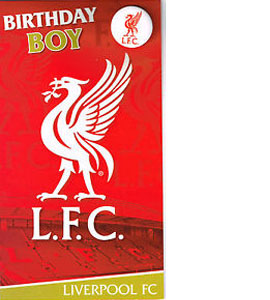 Liverpool Fc Birthday Boy Card