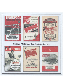 Liverpool Vintage Programme (Greeting Card)