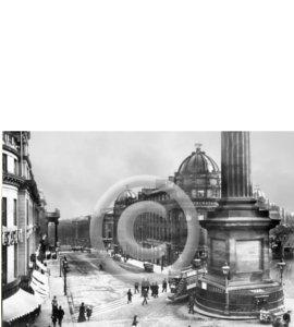 Looking Down Grey Street - 1900 (Print)