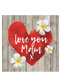 Love You Mam (Greetings Card)