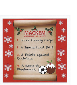 Mackem Christmas Wish List (Greetings Card)