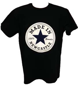 Made In Newcastle 100% Geordie - Black (T-Shirt)