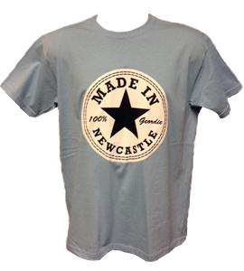 Made In Newcastle 100% Geordie - Blue (T-Shirt)