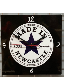 Made in Newcastle Hand Made Wooden Wall Clock