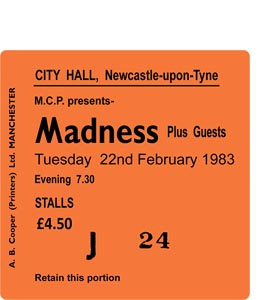 Madness City Hall Ticket (Coaster)