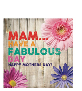 Mam...Have A Fabulous Day (Greetings Card)