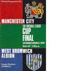 Man City v West Brom 1970 League Cup Final (Programme)