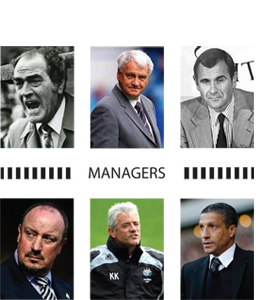 Managers Newcastle United (Greeting Card)