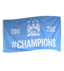 Manchester City F.C. CHAMPIONS Flag