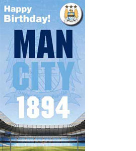 Manchester City Happy Birthday Badged Card