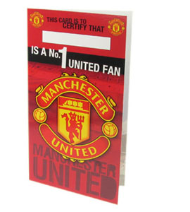 Manchester United no1 Fan Birthday Card