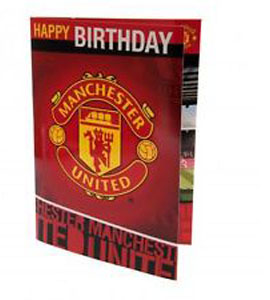 Manchester United F.C Musical Birthday Card