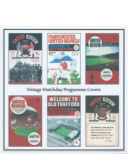 Manchester United Vintage Programme (Greeting Card)