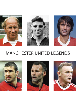 Manchester United Legends (Greetings Card)