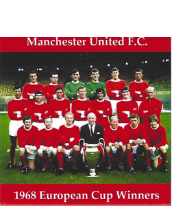 Manchester United 1968 European Cup Winners (Ceramic Coaster)