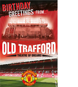 Manchester Utd Old Trafford Pop Up Card