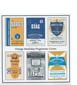 Mansfield Town Vintage Programme (Greeting Card)