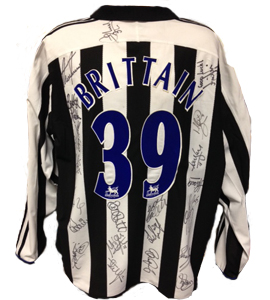 Martin Brittain Newcastle United Shirt 2004/05 (Match-Worn)