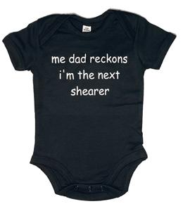 Me Dad Reckons I'm The Next Shearer, Vest (Babywear)