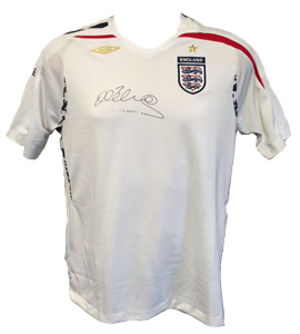 Michael Owen England Shirt (Signed)