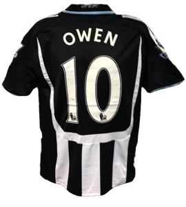 Michael Owen Newcastle United Shirt 2008/09 (Match-Worn)