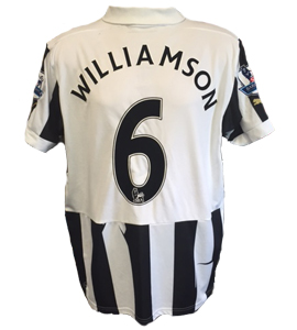 Mike Williamson Newcastle United Home Shirt 2012/13 (Match-Worn)