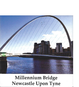 Millenium Bridge Newcastle Gateshead (Ceramic Coaster)