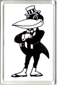 Newcastle United Classic Magpie Mascot (Fridge Magnet)