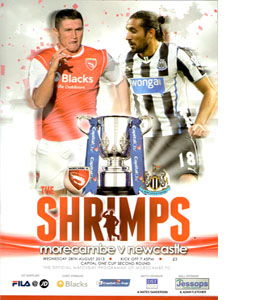 Morecambe v Newcastle United Capital One Cup Second Round 13/14