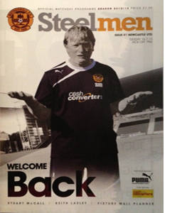 Motherwell v Newcastle United Friendly 13/14 (Programme)