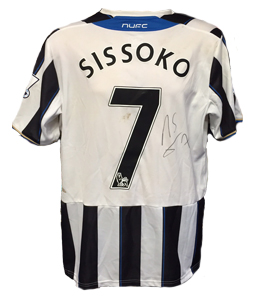Moussa Sissoko Newcastle United Home Shirt 2013/14 (Match-Worn)