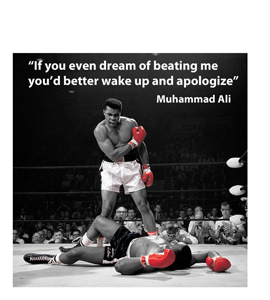 Muhammad Ali Quote (Greeting Card)