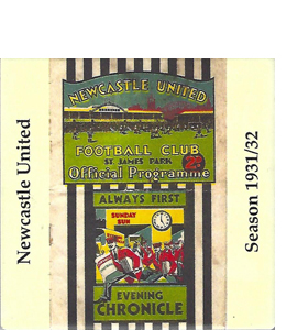 NEWCASTLE UNITED 1931/32 FOOTBALL PROG COVER (CERAMIC COASTER)
