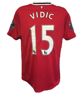 Nemanja Vidic Manchester United 2011/12 Home Shirt (Match-Worn