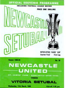 Newcasle United Fairs Cup Quater Final 1st Leg (Postcard)