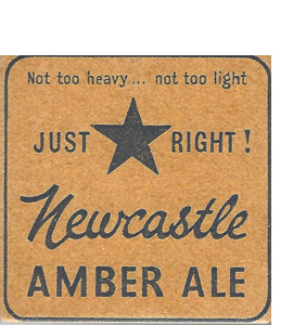 Newcastle Amble Ale Vintage Beer Mat (Ceramic Coaster)