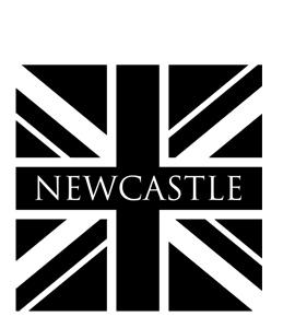 Newcastle B&W Union Jack (Greeting Card)