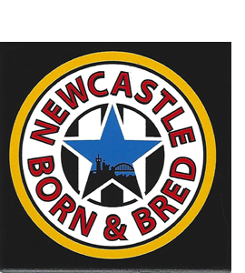 Newcastle Born & Bred (Ceramic Coaster)
