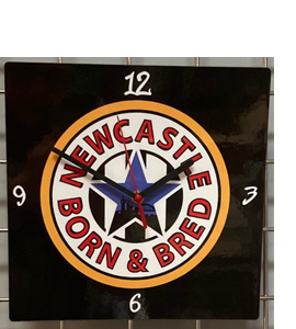 Newcastle Born & Bred Hand Made Wooden Wall Clock