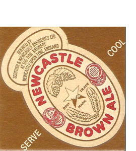 Newcastle Brown Ale Vintage Beer Mat (Ceramic Coaster)